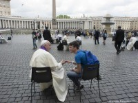 When it comes to happiness, theres no app for that, pope tells teens