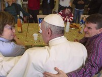 Friday of Mercy: Pope Francis Visits, Snacks With Severely Disabled