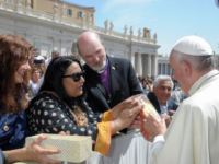 Pope Presented With Brick Painted by Children of Pakistani Couple Burned Alive