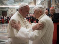 Retired Pope Benedict XVI says he feels protected by Pope Francis