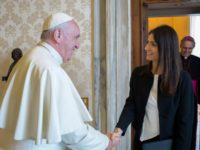 Rome's 1st Female Mayor Visits Pope Francis