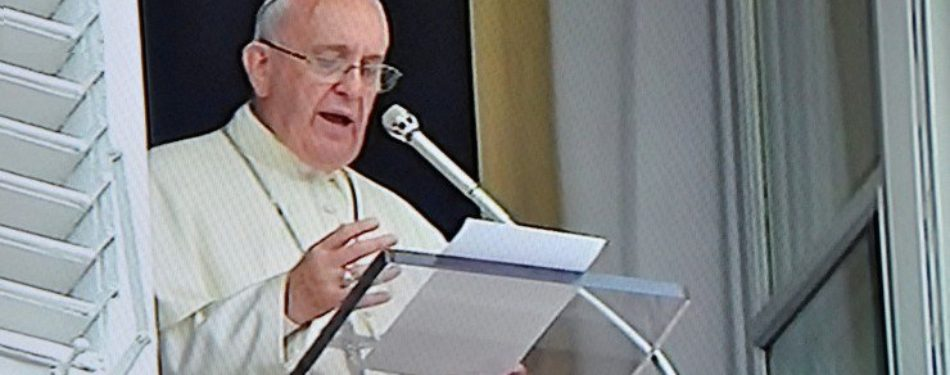 Pope at Angelus: Don't Just Speak, Act