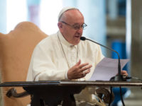 The world is at war, but religions are not, pope says on way to Krakow