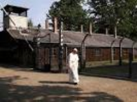 Pope Francis Prays In Silence At Auschwitz