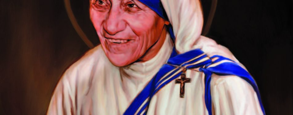Canonization Painting of Mother Teresa the Work of American Artist Chas Fagan