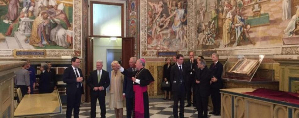 Pope Receives Prince of Wales and the Duchess of Cornwall