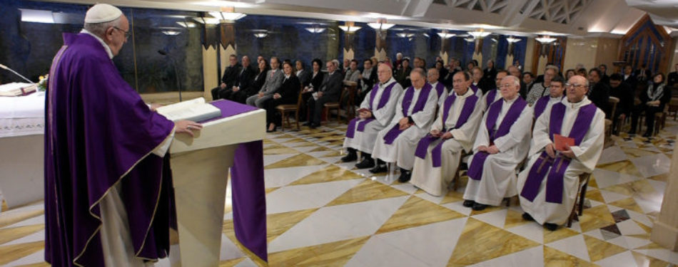 Pope's Morning Homily: Nice Crucifix You Wear, But Is It Sincere…