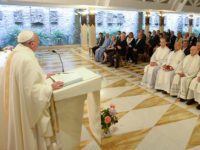 Pope's Morning Homily: With Feet On Earth, Christian's Gaze Is On Heaven