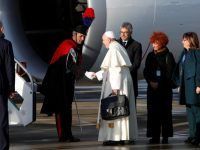On flight to Panama, Pope confirms November trip to Japan