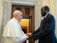 Pope encourages South Sudan peace process, hopes to visit