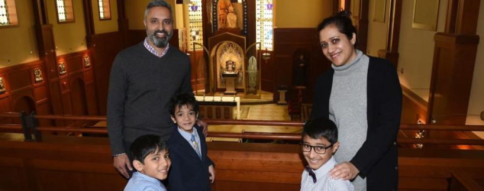 Inspired by sons faith, family prepares to become Catholic at Easter