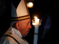 At Easter the stones of sin, despair, are rolled away, pope says at vigil