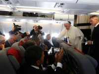Just the facts, pope tells reporters, commenting on news media