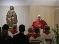 Dont join devils game of jealousy, pope says at Mass
