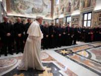 Church seeks what is best for those who are wounded, pope says