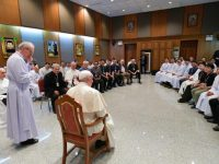 Pope says he is scandalized by anti-migrant rhetoric