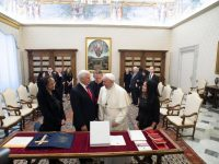 Pope, Pence meet at the Vatican