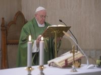 Hearts hardened by ideology, ego leave no room for God, pope says