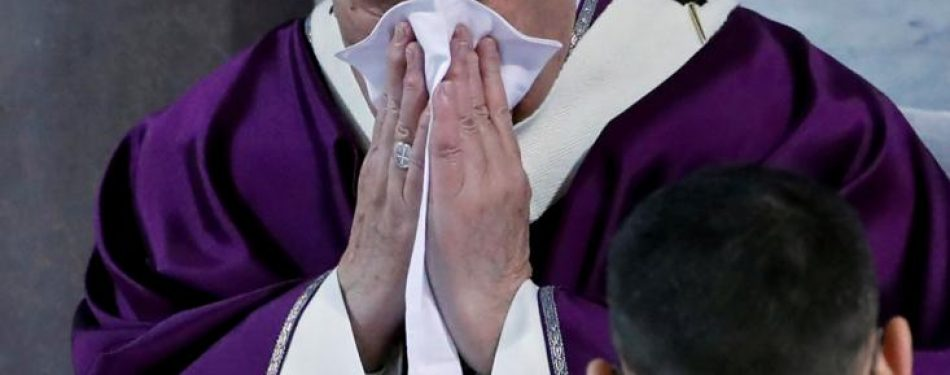 Pope has been diagnosed with cold; symptoms unrelated to other illness