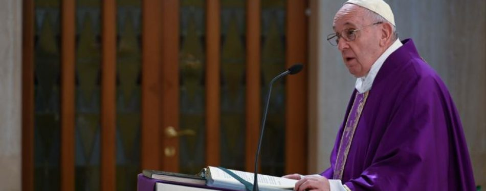 Pope prays that world may overcome fear