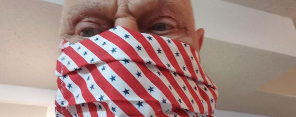 Veteran learns to use sewing machines he rebuilt so he can make face masks