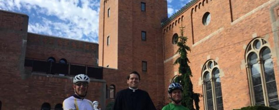 Priests 100-mile bike ride raises COVID-19 aid for parish — and hope