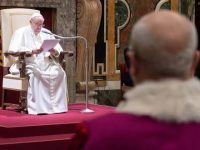 Pope Francis Forced To Sit Due To Back Problems