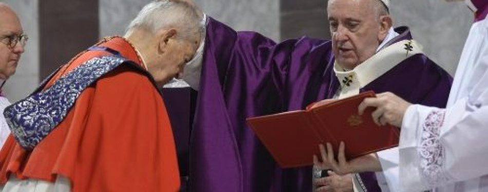 Pope at Ash Wednesday Mass: 'Lent is a journey of return to God'
