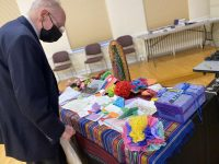 With children's prayers nearby, bishops try to tackle immigration